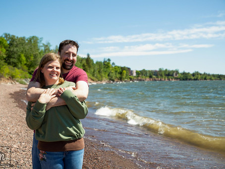 Shannon & Ken's Engagement Session - Glensheen Mansion in Duluth, MN