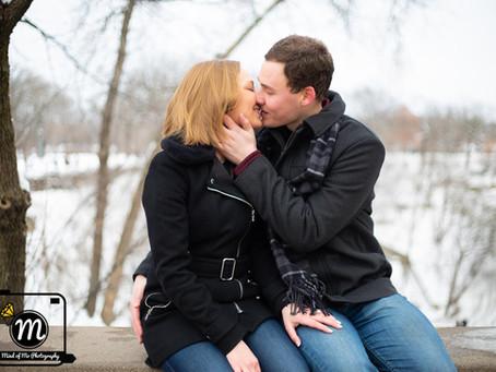 Laura & Jake - Engagement at Minnehaha Falls - Minneapolis, MN
