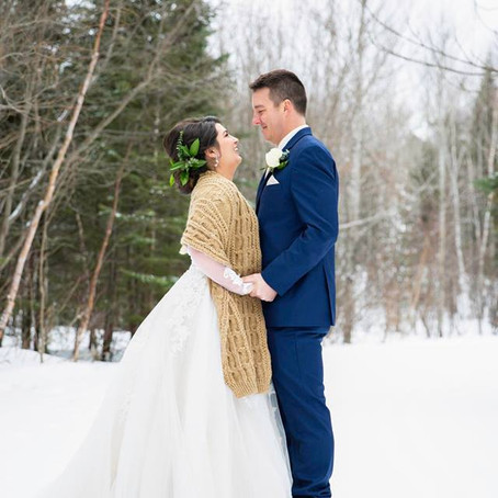 Mr. & Mrs. Connelly - Wedding Day at The Gunflint Lodge