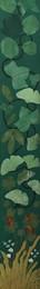 Voorkant met verschillende lente bladeren