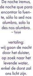 Tekst Taizé