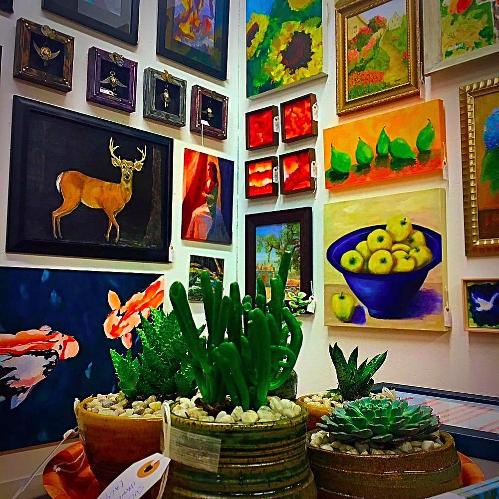 LACY Original Art Booth @Kudzu and Company, 6450 Roswell Rd, Sandy Springs, GA