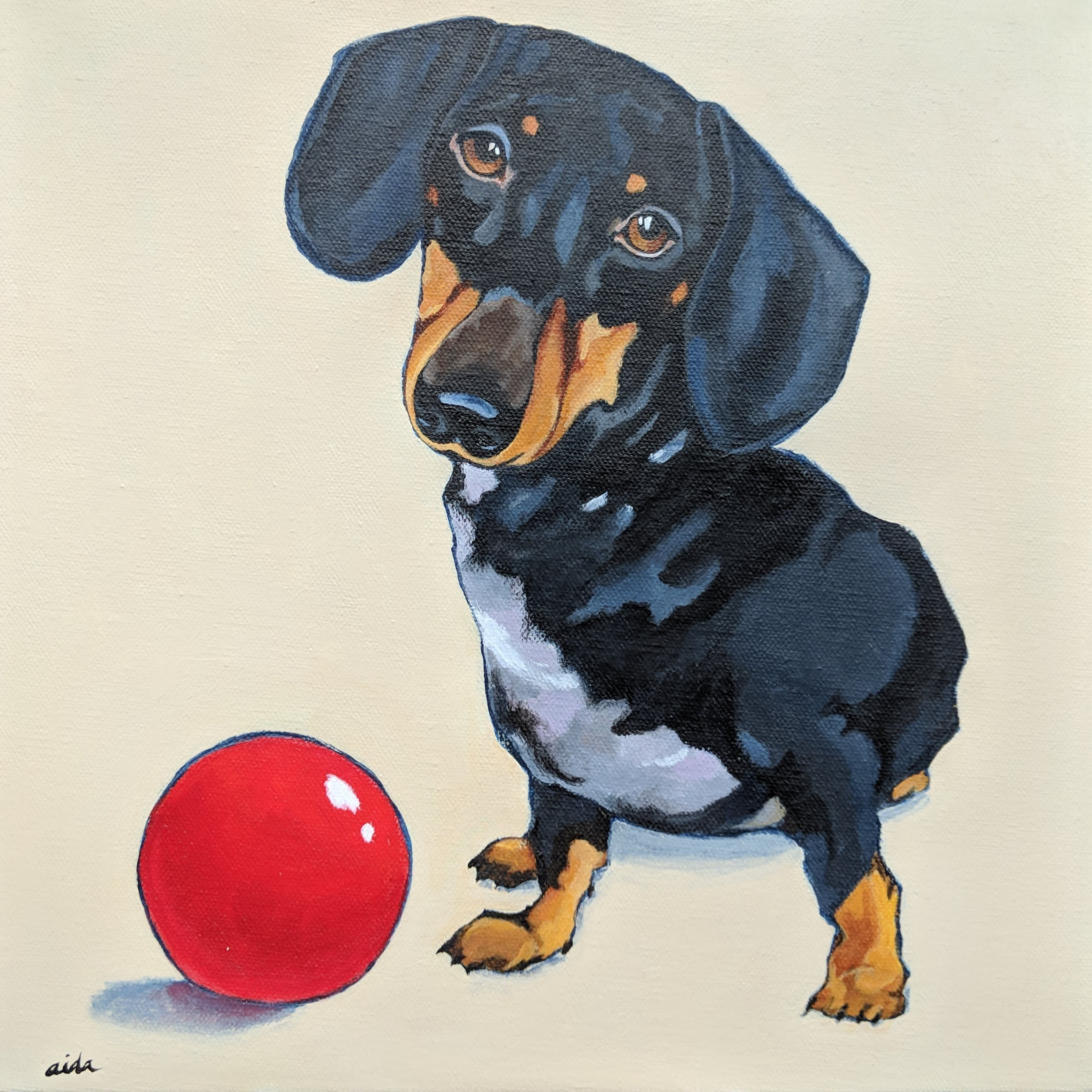 Milo and the red ball