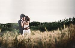 Bride and Groom in the Field. Israel