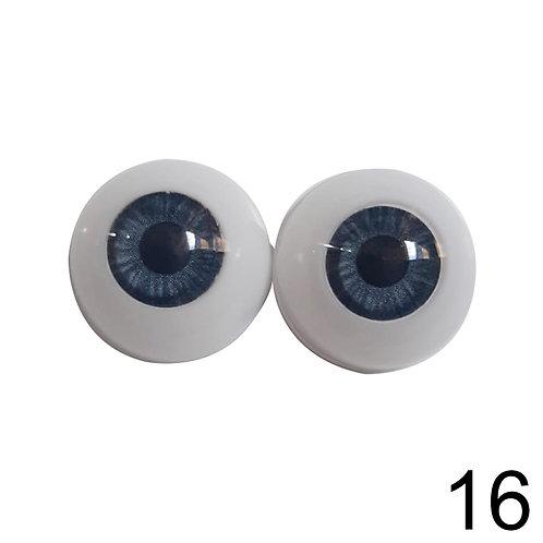 5 Pares Olhos Azuis 16mm