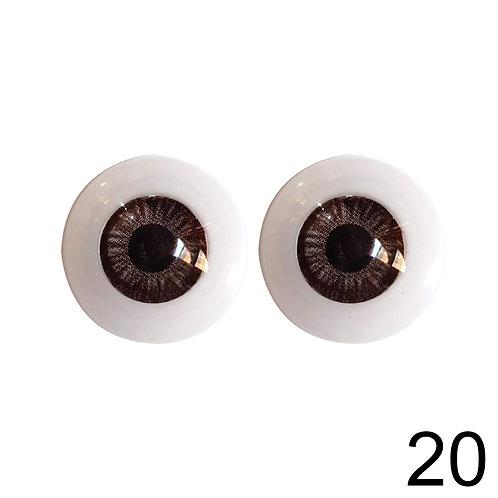 5 Pares Olhos Acinzentados 20mm