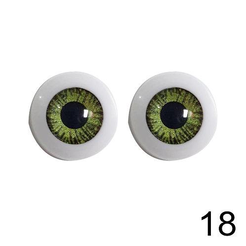 5 Pares Olhos Acinzentados 18mm