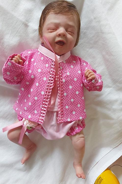 Bebê reborn molde salia mini bebê