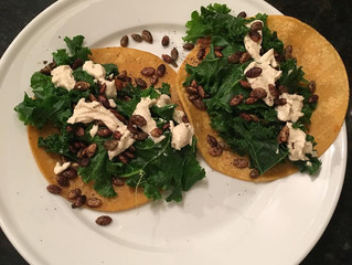 Hello, Autumn. Sweet Potato & Kale Tacos. GF/V