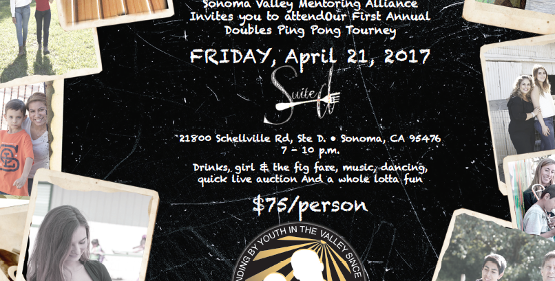 Support Sonoma Valley Mentoring Alliance on April 21st
