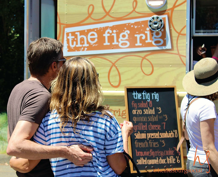 the fig rig at a public event with people in line to order food