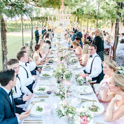 wedding reception dining