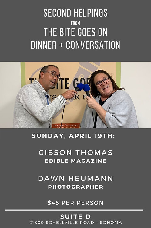 Dinner + Conversation with Gibson Thomas & Dawn Heumann