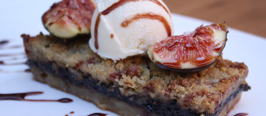from the kitchen: Warm California Fig and Thyme Crisp with Fig Syrup