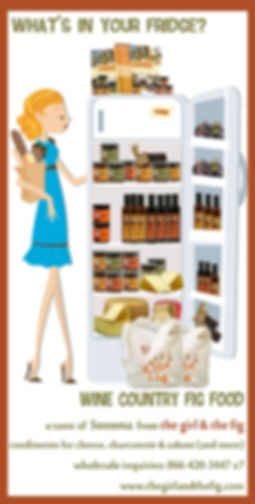 fig food products in fridge cartoon