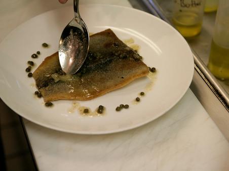 Pan-Seared Trout, Lemon Butter Sauce, Haricots Verts