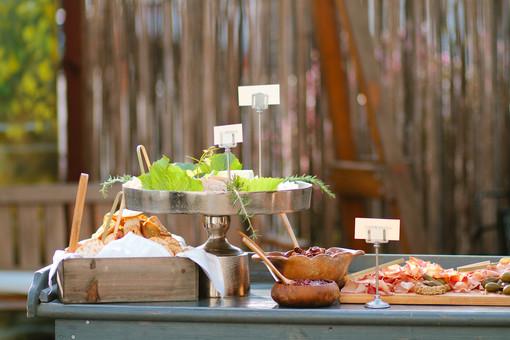 outdoor buffet