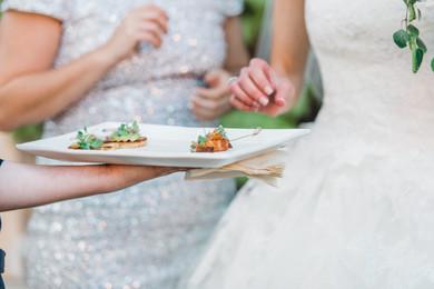 guests enjoying appetizers