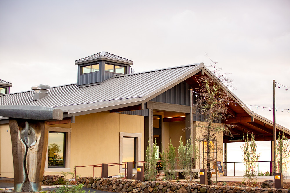 main tasting room at paradise ridge winery