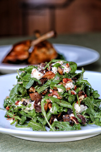 fig & arugula salad with duck confit