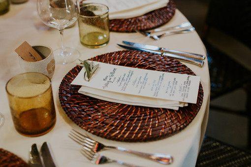 menu and place setting