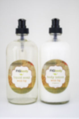 fig body liquid soap and body lotion wild fig scent