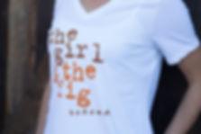 the girl & the fig white women's t-shirt