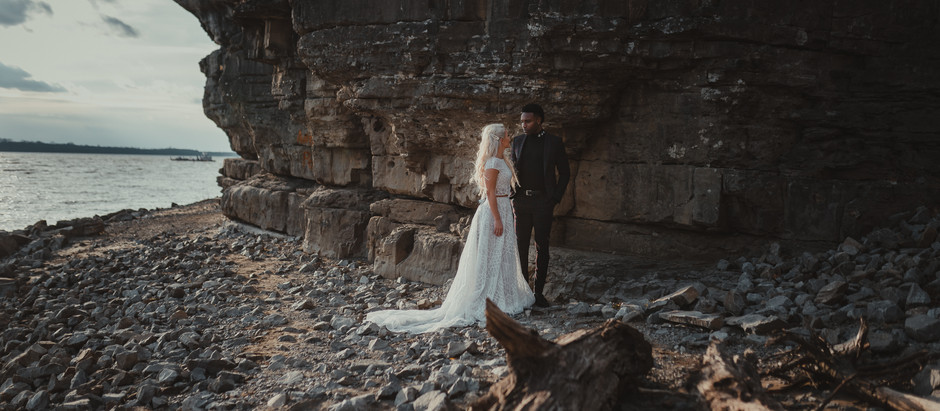 Carissa and Brandon // Cave in Rock // Styled Shoot
