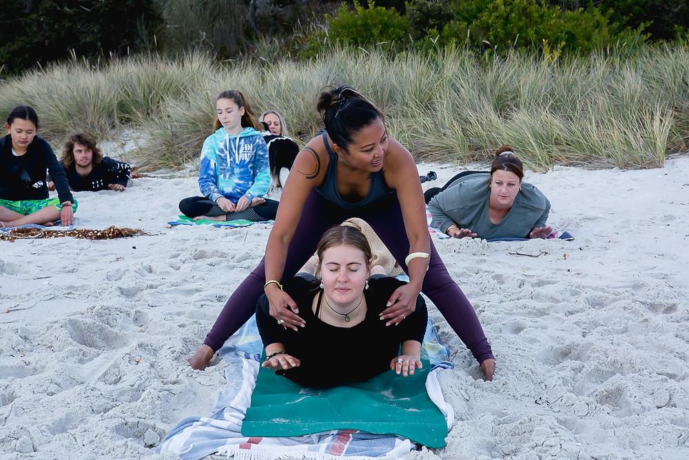 Yoga, Binalong Bay, Bay of Fires, Ally Ward Photography, St Helens, Photography, Photographer, East Coast Tasmania Photographer, St Helens Photographer, Bay of Fires Photographer
