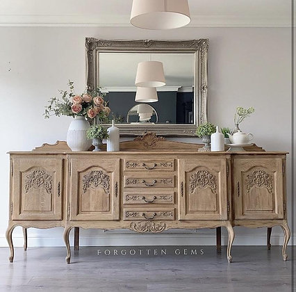 Large French Oak Carved Sideboard