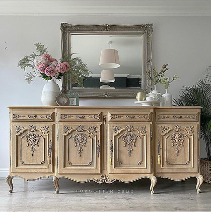 Large French Raw Carved sideboard