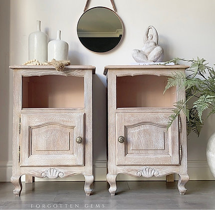 French Limed Oak Cabinets