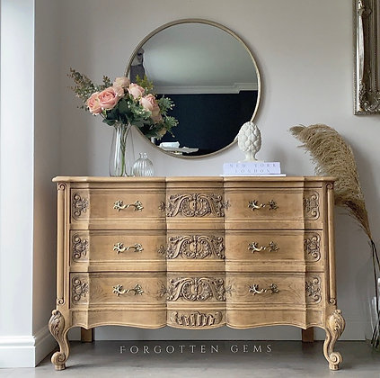 French Oak Carved Drawers
