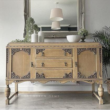 Solid Oak Antique Raw Sideboard