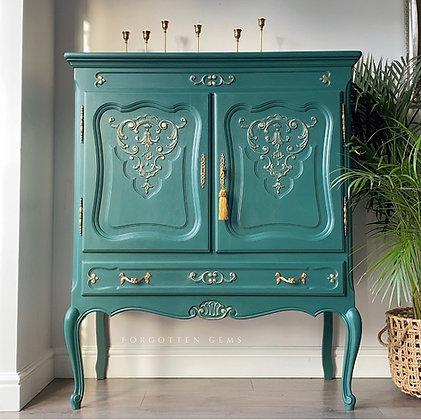Emerald Cocktail Cabinet / Linen Cabinet