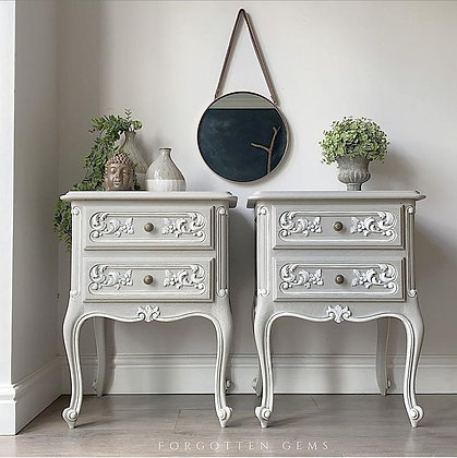 French Oak Bedside Tables