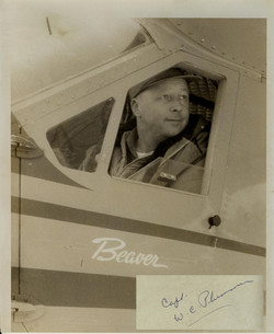 Warren Plummer in Beaver airplane