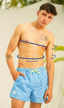 Nachhalttige Badeshorts für Männer aus r