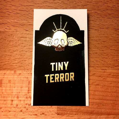 Tiny Terror lapel pin
