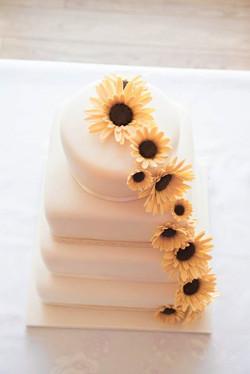 Marquee, Sunflower Wedding Cake