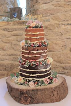 Kingscote Barn Naked Cake