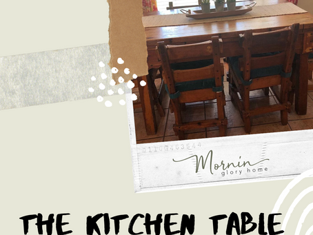 The kitchen table.