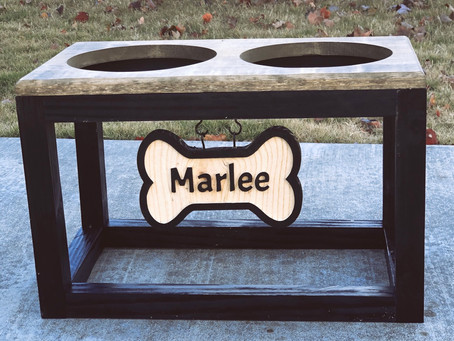 Industrial Style Dog Bowl Stand DIY