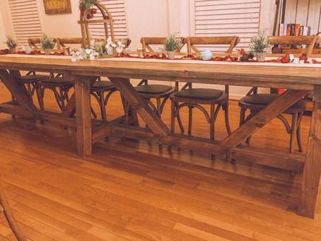 Build a longer table.