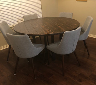 kitchen table with metal base (Hayley) w
