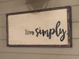 sign - live simply.JPG