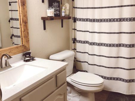 Simple bathroom renovation.