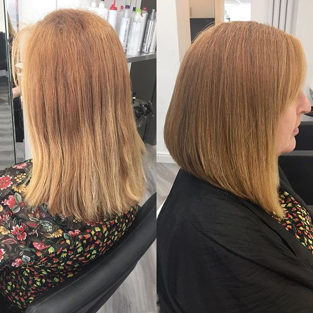 From long and shapeless to a gorgeous graduated bob, love this restyle done today by Amy✂️✂️