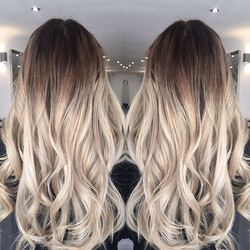 Before and after 📸 by adding a darker root to lightened hair makes it so much easier to maintain an