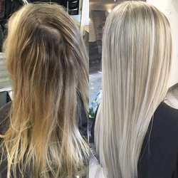 Fresh colour for Olivia 👸🏼 this colour was achieved by doing a full head of back to back highlight